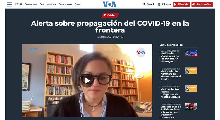 Alerta sobre propagación del COVID-19 en la frontera